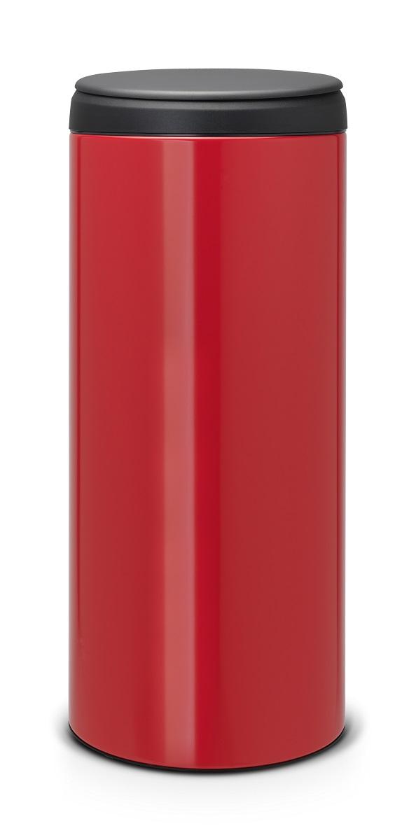 Odpadkový koš Brabantia Flipbin - 30 l, zářivě červená/tmavé víko 106903