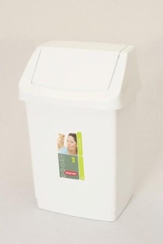 Odpadkový koš 15l CLICK bílý 04043-026