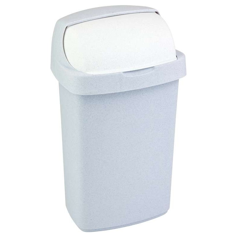 Odpadkový koš ROLL TOP 10l sv. šedý 03974-856