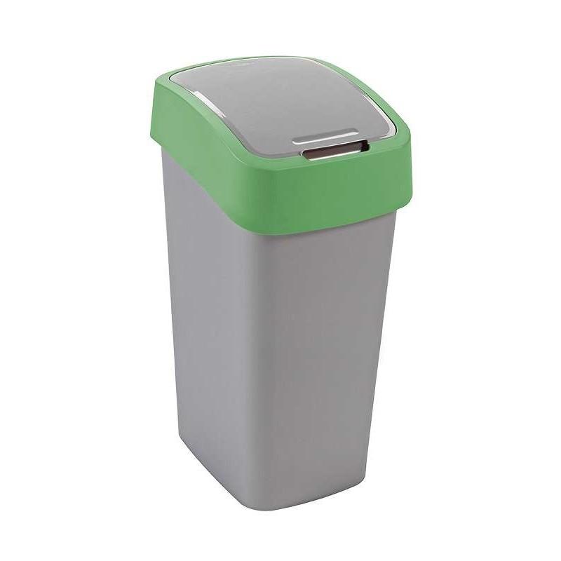 CURVER Odpadkový koš Flipbin, 50 l, stříbrná/zelená 02172-P80