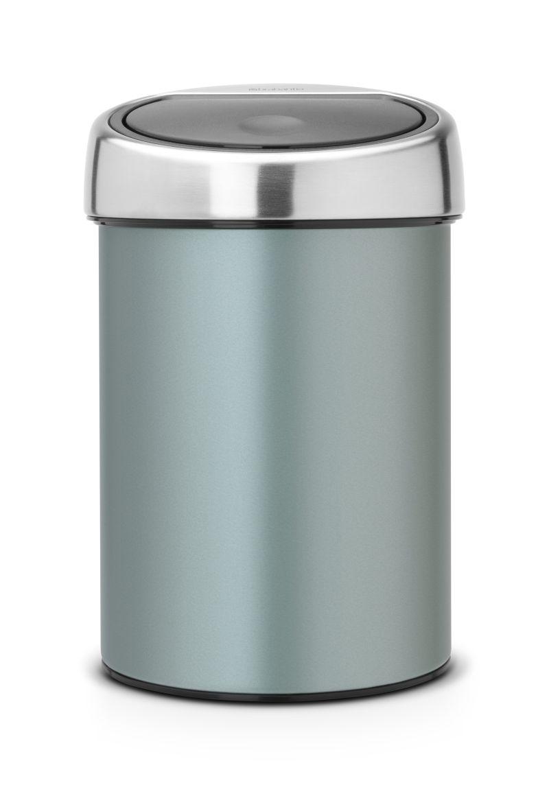 Koš na odpadky Touch Bin Brabantia - 3 l, metalická mátová 364402