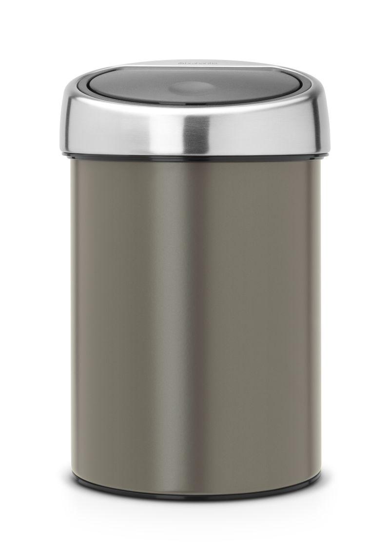 Koš Touch Bin Brabantia 3l, dotykový, šedý 364464
