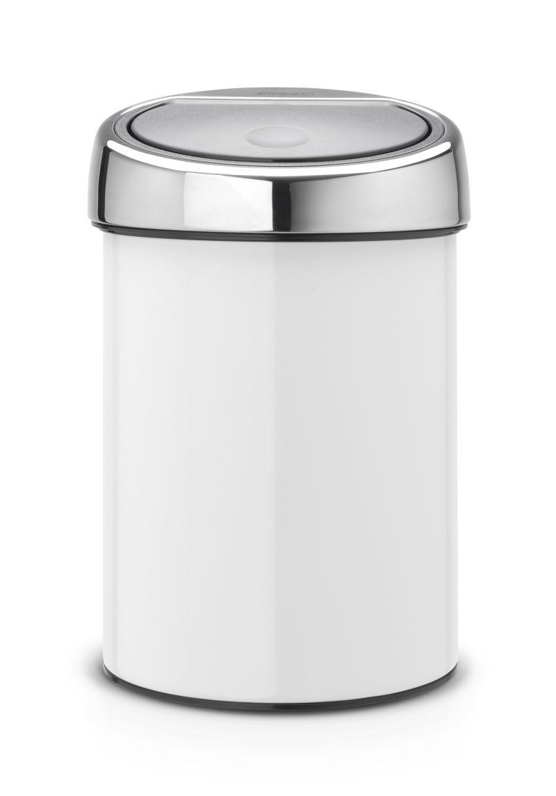 Koš na odpad Touch Bin Brabantia 3l, dotykový, bílý 364488