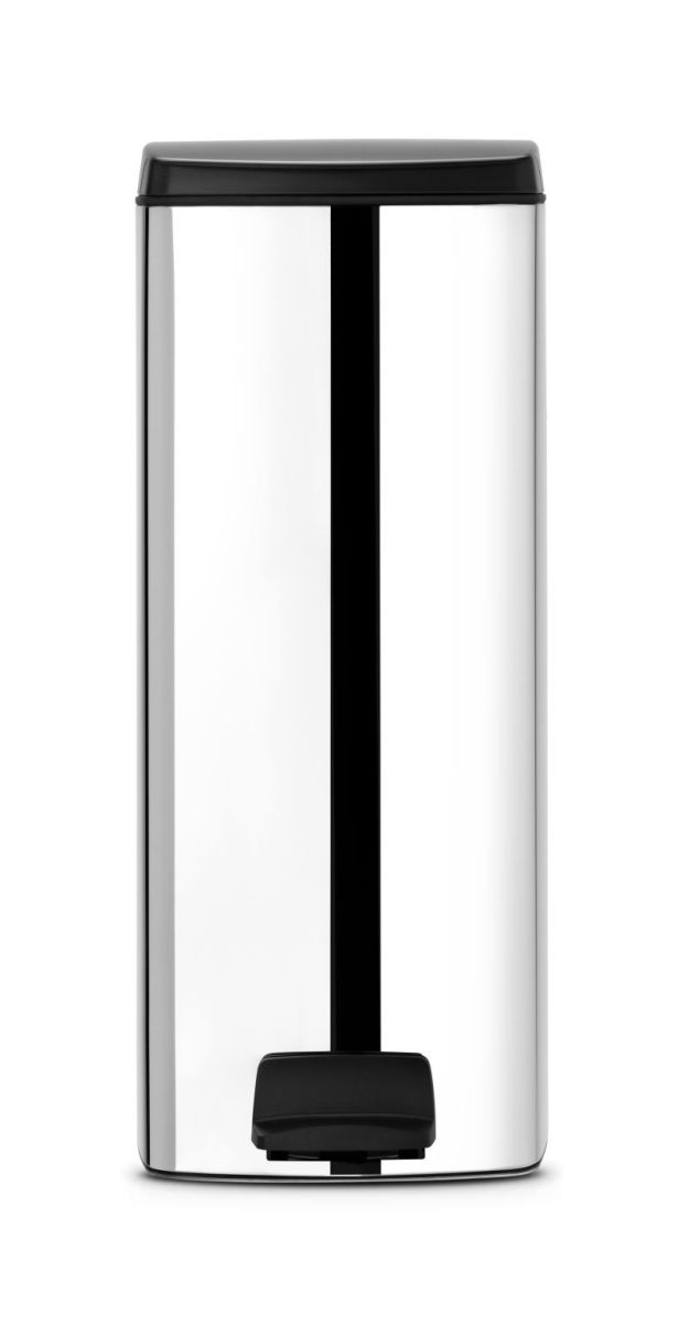 Brabantia pedálový koš na odpadky - 25 l, hranatý, lesklá ocel 369384