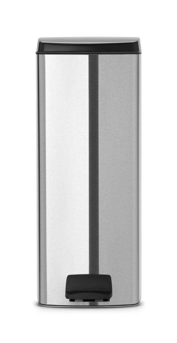 Brabantia pedálový koš na odpadky - 25 l, hranatý, matná ocel FPP 369407