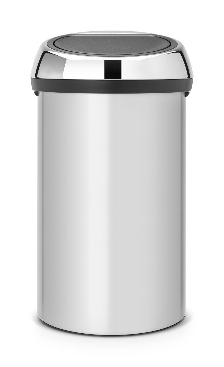 Koš na odpad Touch Bin Brabantia - 60l, dotykový, metalická šedá 402425