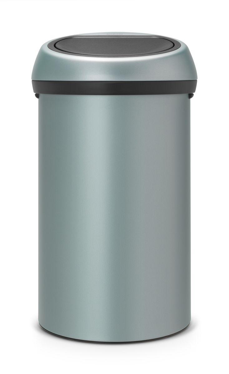 Koš na odpad Touch Bin Brabantia - 60l, dotykový, metalická mátová barva 402449