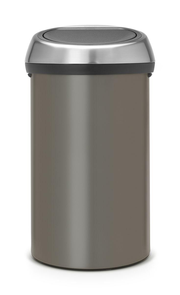 Koš na odpad Touch Bin Brabantia - 60l, dotykový, platinový 402463