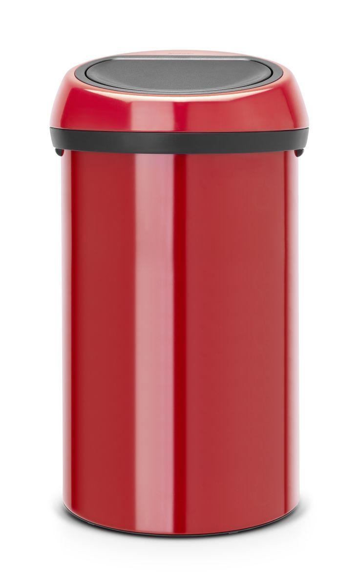 Koš na odpad Touch Bin Brabantia - 60l, červený 402487
