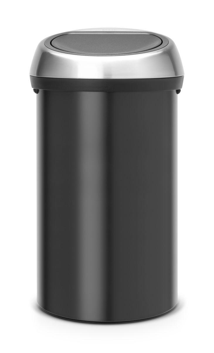 Koš na odpad Touch Bin Brabantia - 60l, dotykový, matná černá 402548