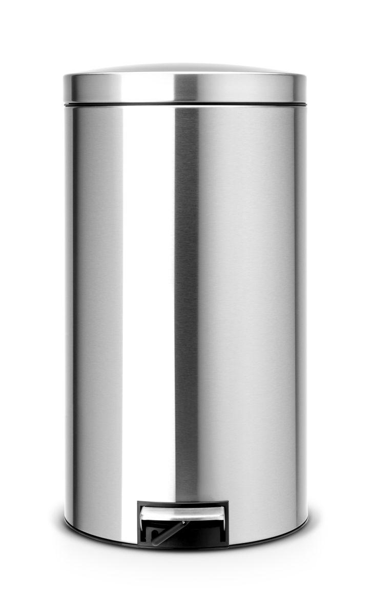 Brabantia pedálový koš na odpadky - 45 l, matná ocel 424205