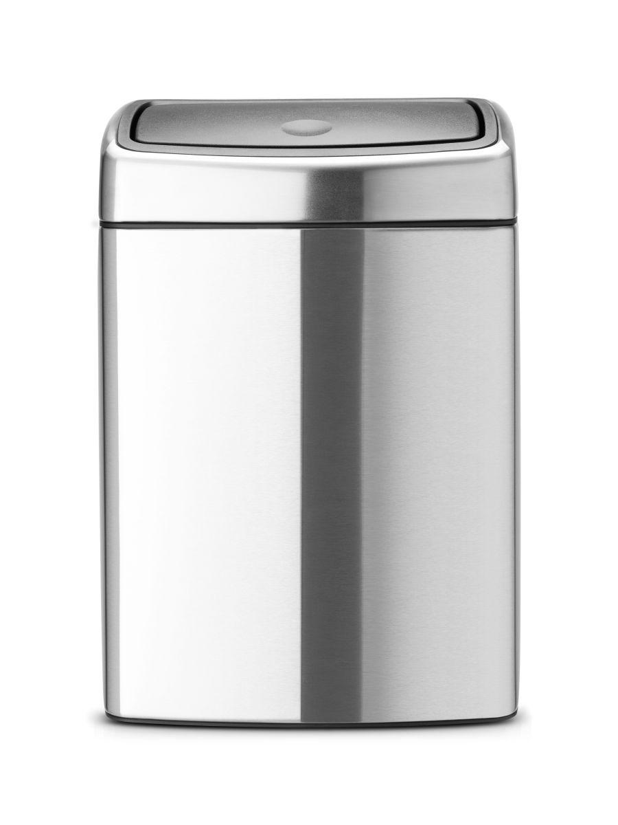 Koš na odpad Touch Bin Brabantia 10 l - dotykový, čtvercový, matná ocel 477225