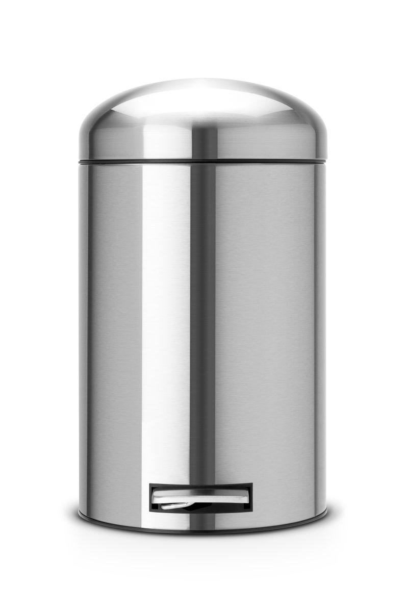 Brabantia Retro koš na odpadky - 12 l, matná ocel 479120