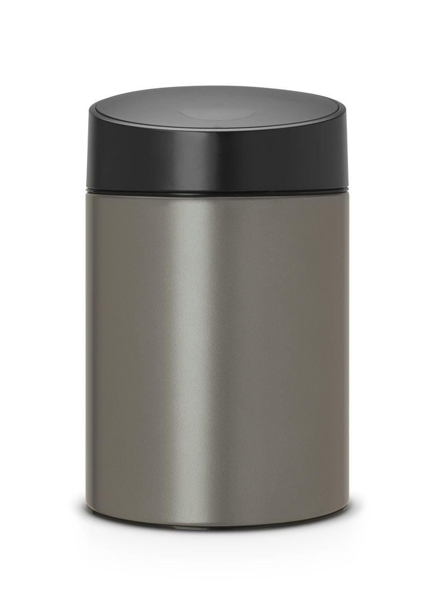 Koš na odpadky Slide Bin Brabantia 5l, platinový 483141