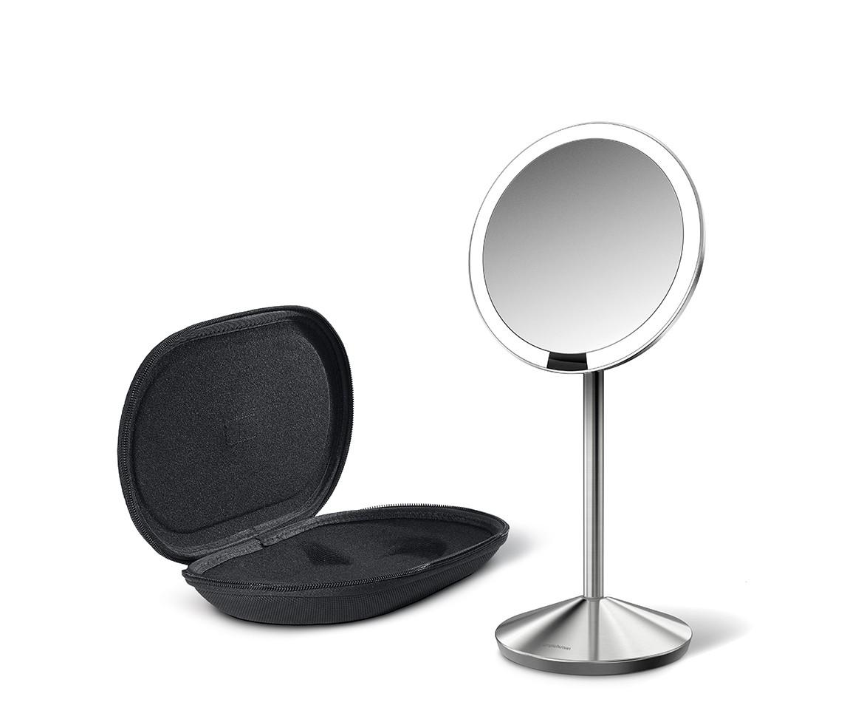 Kosmetické zrcátko Simplehuman - senzorické Tru-lux LED osvětlení, 10x zvětšení, dobíjecí - skladem