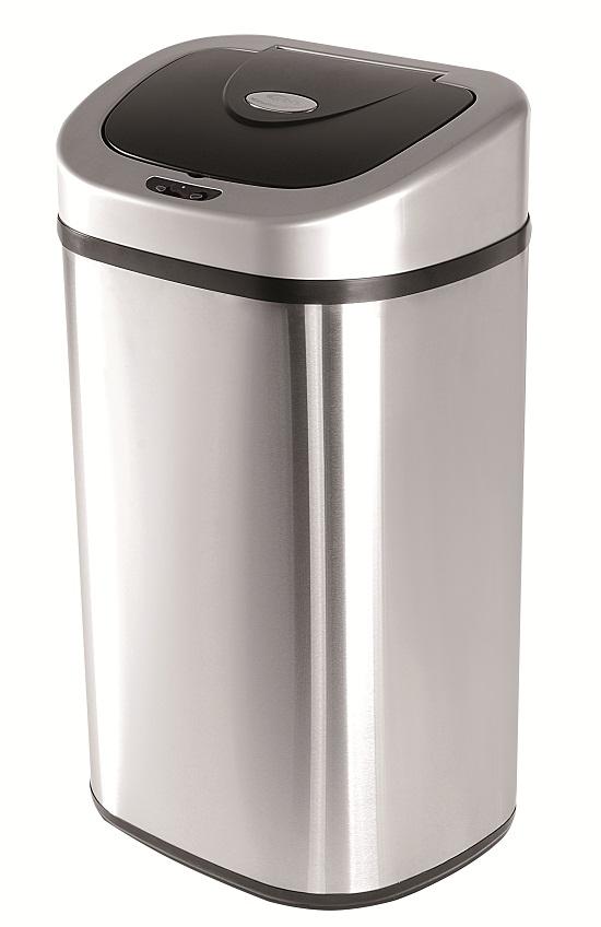 Bezdotykový koš Helpmation OVAL DZT 80-4R, 80 litrů, dvě nádoby na tříděný odpad
