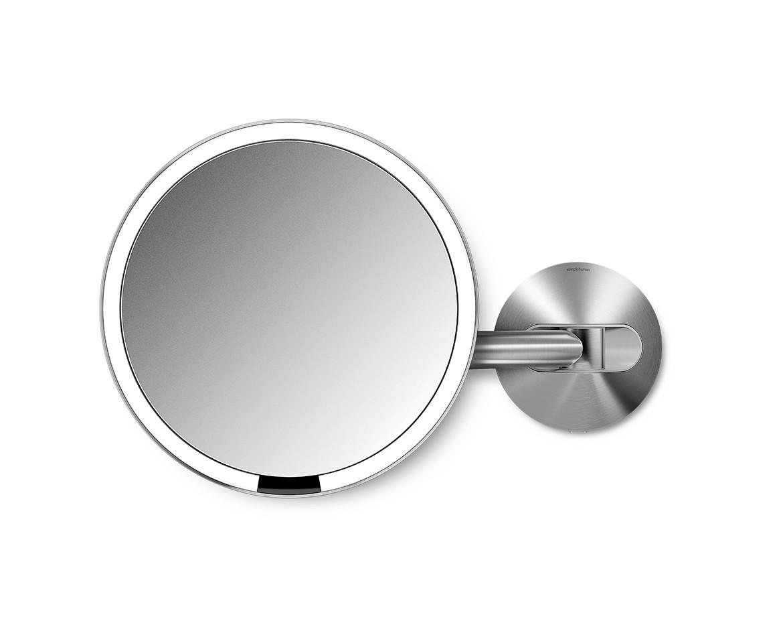 Simplehuman Kosmetické zrcátko - senzorické Tru-lux LED osvětlení, 10x zvětšení, dobíjecí ST3003