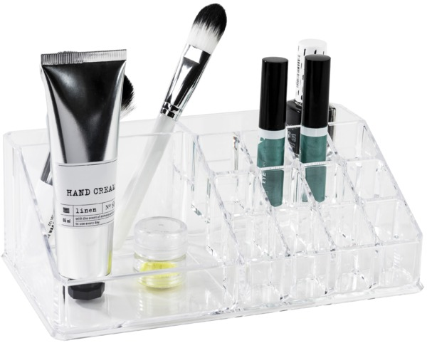 COMPACTOR Organizér na kosmetiku – 15 přihrádek, čirý plast
