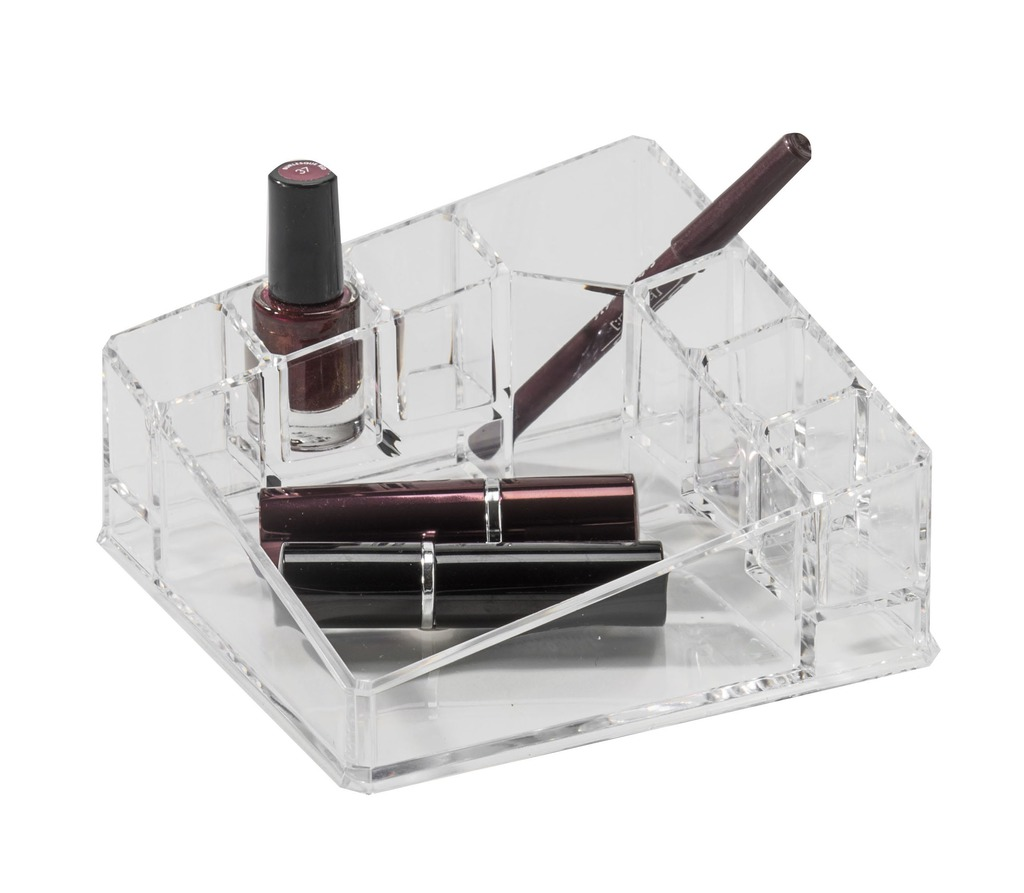 Compactor organizér na kosmetiku – 8 přihrádek, kompaktní rozměry, čirý plast