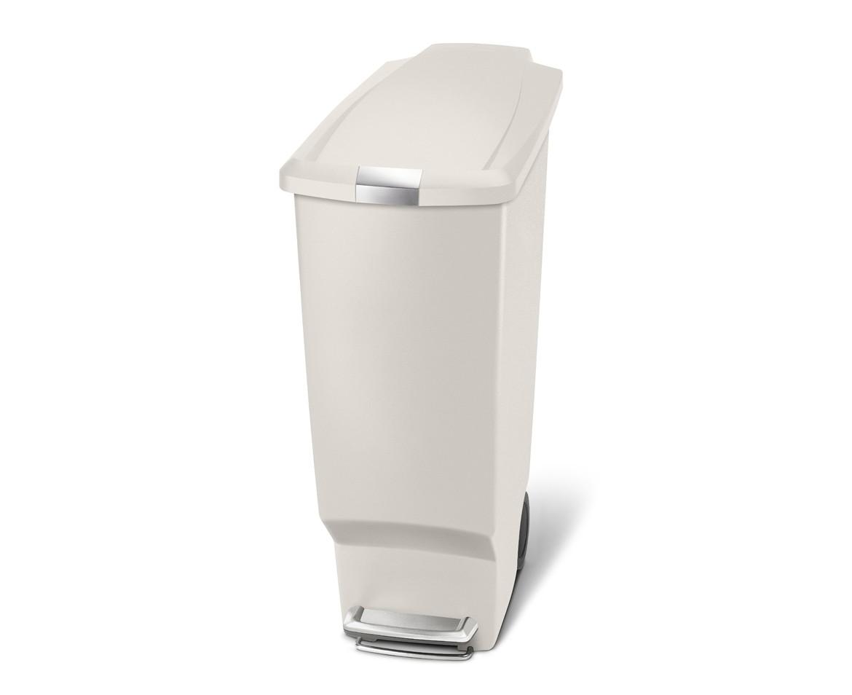 Pedálový odpadkový koš Simplehuman - 40 l, úzký, šedo-béžový plast - skladem