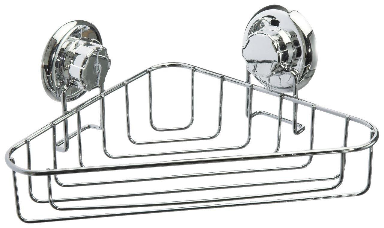 COMPACTOR Rohová polička do koupelny bez vrtání Bestlock systém, nosnost až 12 kg, 23,8 X 23,8