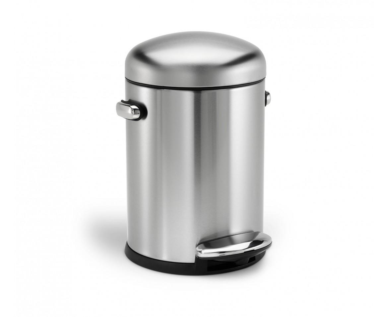 Retro pedálový odpadkový koš Simplehuman - 4.5 l, matná ocel, FPP - skladem