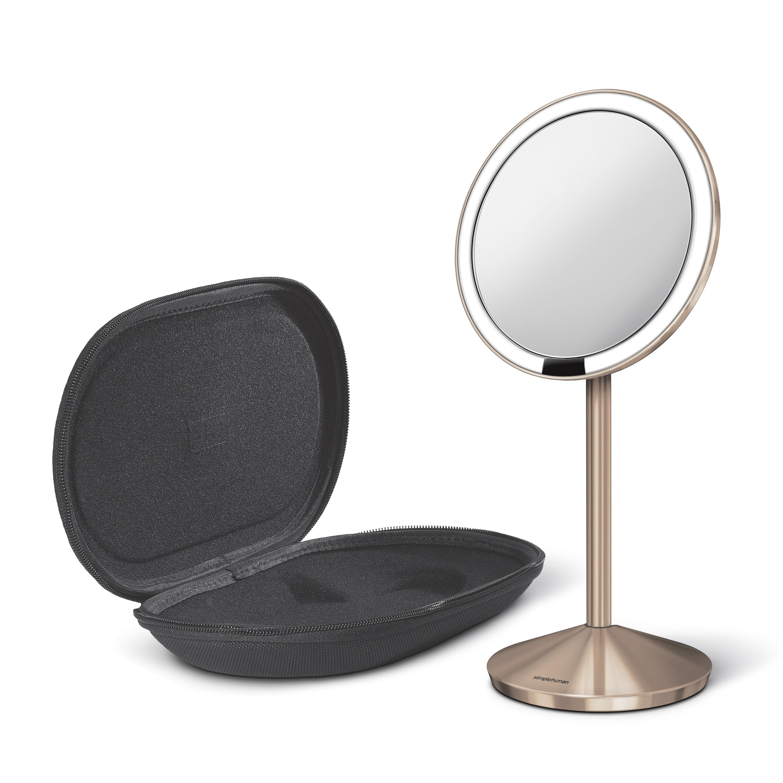 Kosmetické zrcátko Simplehuman - Sensor Tru-lux LED osvětlení, 10x zvětšení, aku ROSE GOLD