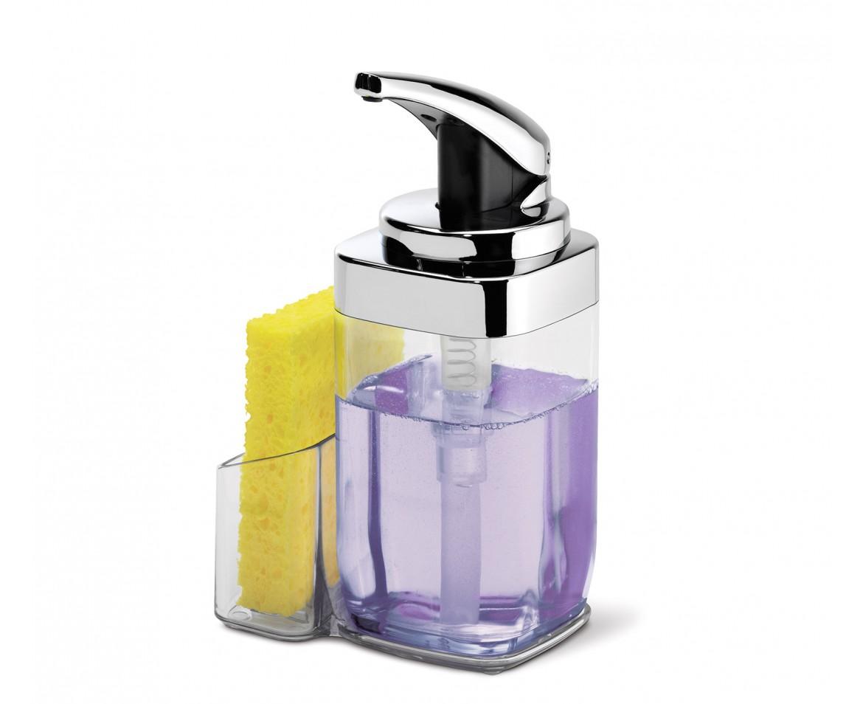Simplehuman Dávkovač mýdla, 650 ml KT1159 + Držák na houbičku