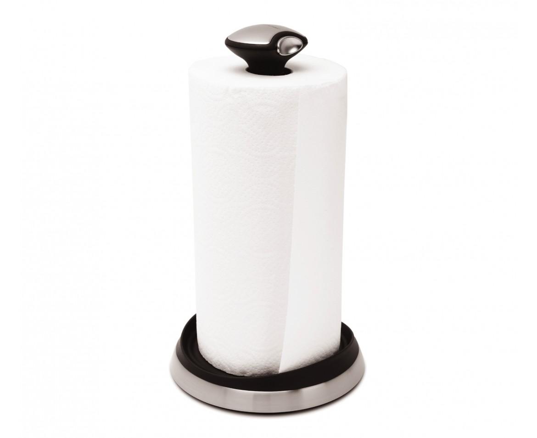 Držák na kuchyňské utěrky Simplehuman - pro role do 28 cm, matná ocel
