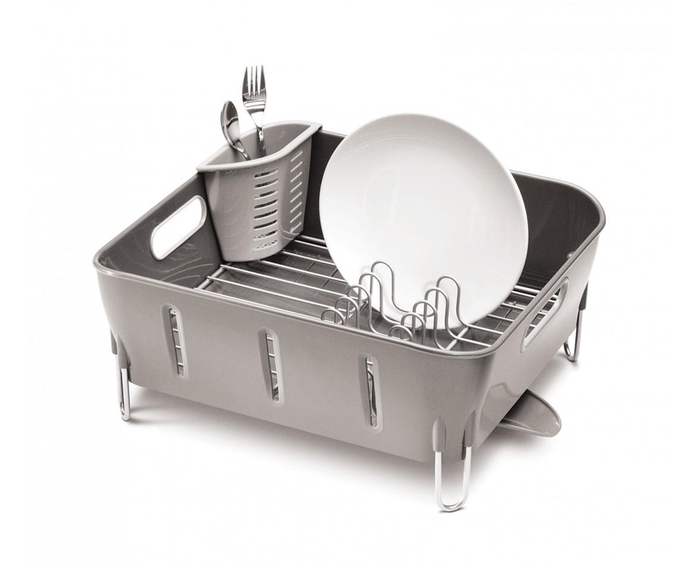 Odkapávač na nádobí Simplehuman - Compact, šedý plast