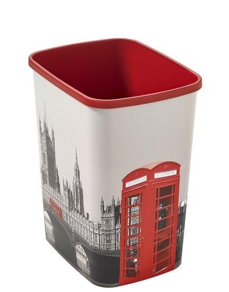 Odpadkový koš Curver Flipbin bez víka London 25 L 02174-L12