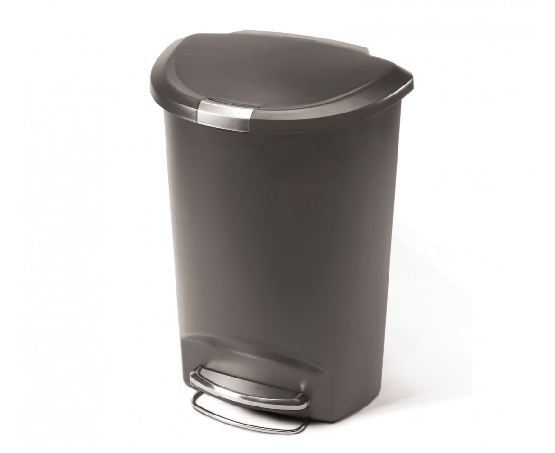 SIMPLEHUMAN Pedálový odpadkový koš 50 l, šedý ,plastový CW1357