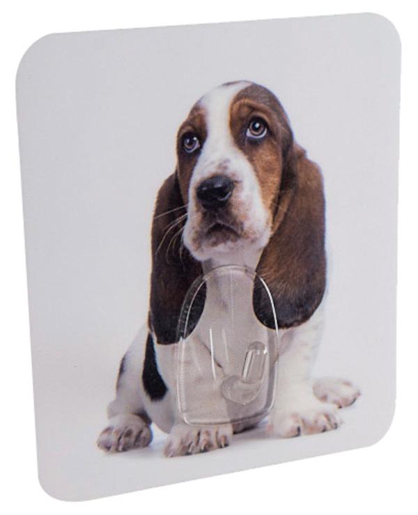 Samolepící háček Compactor s motivem psa (8 cm x 1,5 cm x 9 cm)