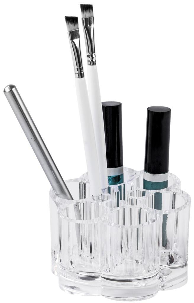 Organizér na štetce a na kosmetiku Compactor - čirý plast