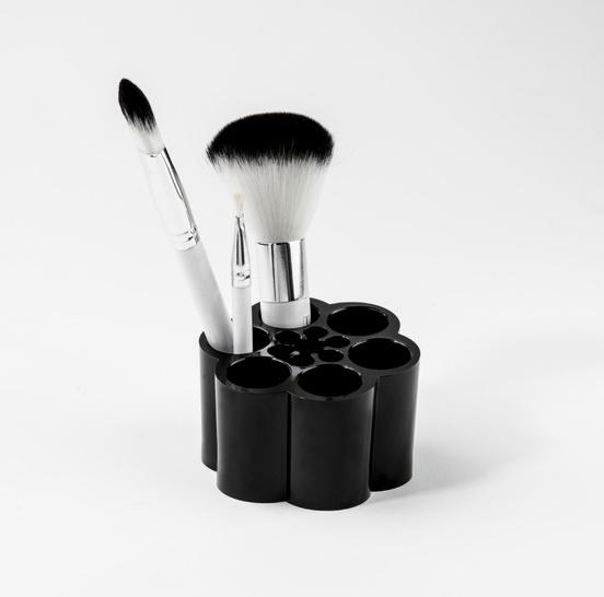 Malý organizér na štětce a na kosmetiku Compactor - černý plast