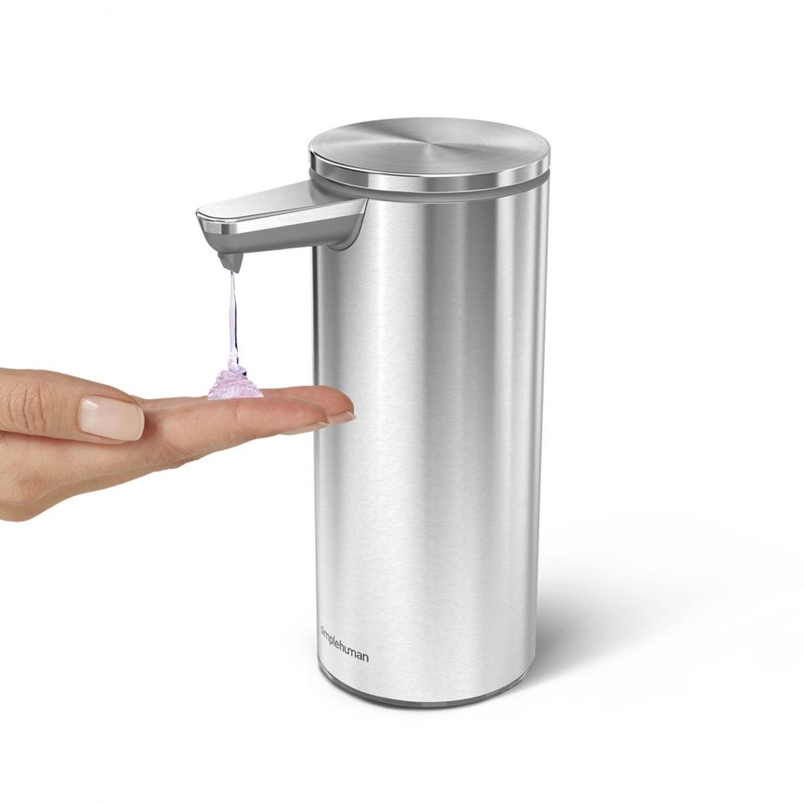 Bezdotykový dávkovač mýdla Simplehuman – 266 ml, kartáčovaná ocel, dobíjecí